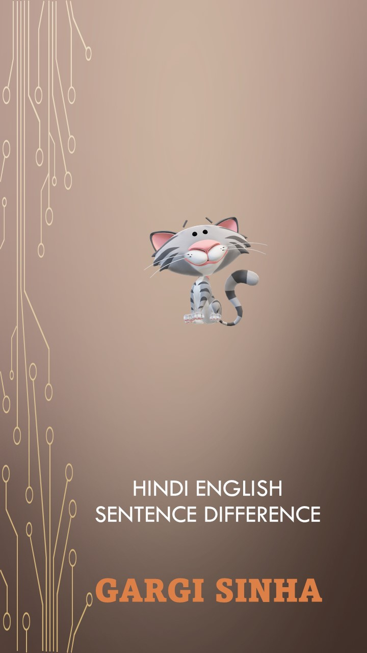 Difference between Hindi and English sentence structure